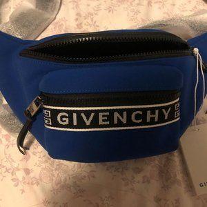Givenchy Blue Logo Belt Bag